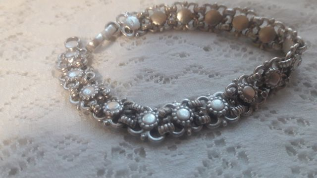 Винтажный серебряный браслет 23,50 гр.