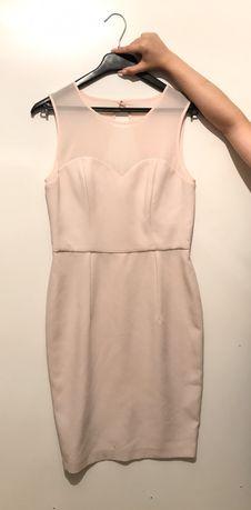 Очень красивое пудровое платье oasis 36 р