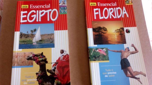 2 Guias de viagem Flórida + Egipto