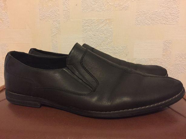 Туфли мужские кожаные Италия 43 размер в отличном состоянии