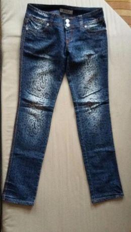 Spodnie jeansowe panterki