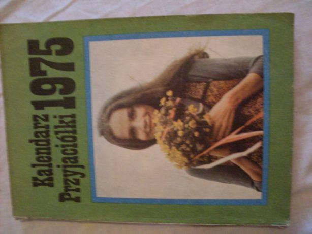 Kalendarz przyjaciółki 1975 rok