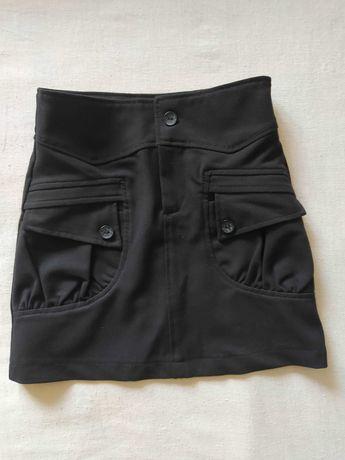Черная юбка в школу школьная юбка
