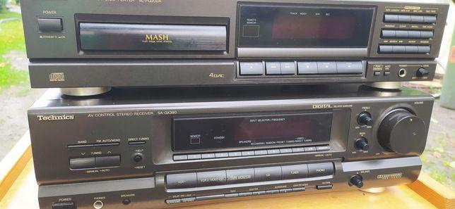 Amplituner kina domowego Technics SA-GX390 i cd sl-pg200a