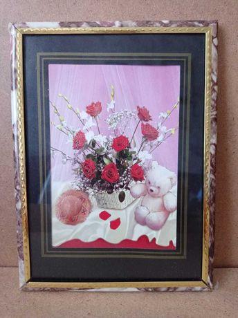 Картина с красными розами  продам.