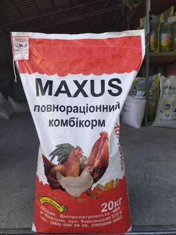 Maxus - комбикорм финиш - бройлер, утка, гусь, цыпленок - 20 кг