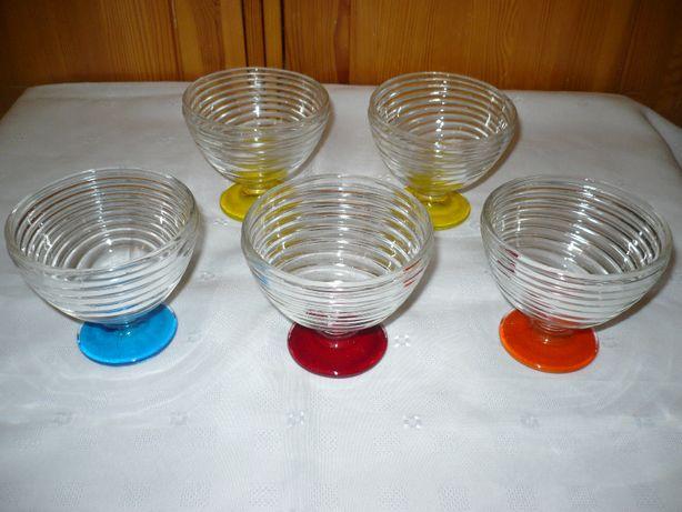 Kolorowe pucharki do lodów deserów 5 sztuk