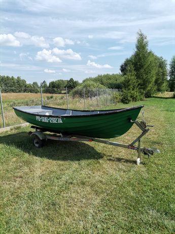 Łódź łódka wędkarska 4,2m + przyczepka zarejestrowana