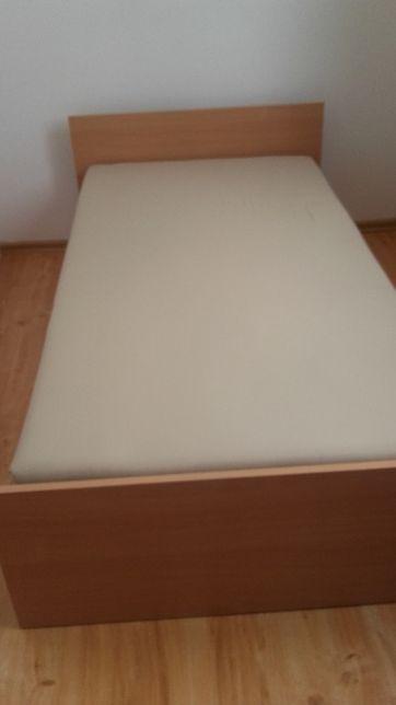łóżko dziecięce / młodzieżowe kolor buk + stelaż + materac