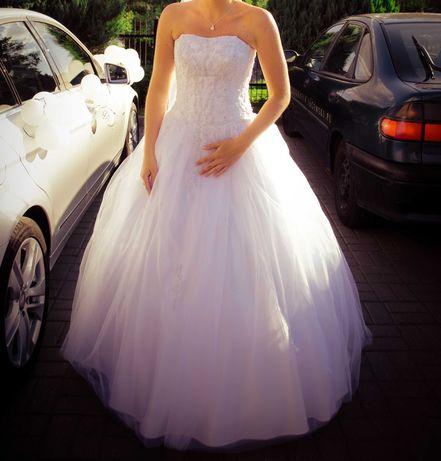 Suknia ślubna, typ księżniczka, rozmiar 38-42
