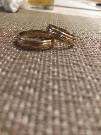 Obrączki Ślubne warkocz, plecionka