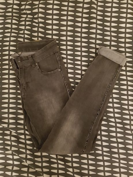 Szare spodnie Hand Work Denim, XS/S