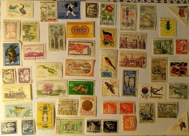 Komplet znaczków pocztowych XVIII 50 szt.