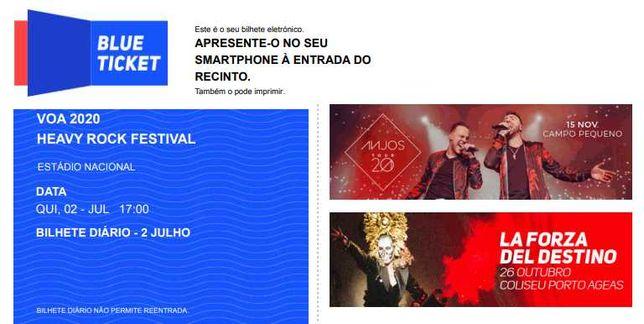 Bilhete Diário - 30 Junho 2022 - VOA Festival