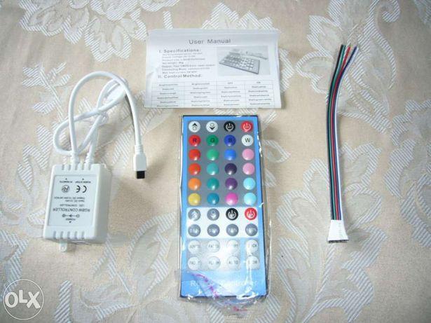 Comando + controlador para fitas leds rgbw - novo