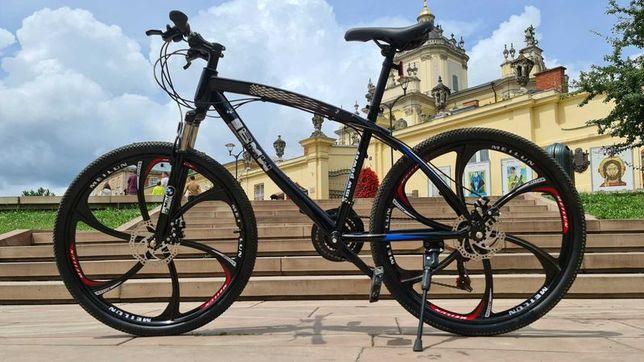 """Горный велосипед BMW BLACK WHITE на литых дисках 26"""" N0055"""