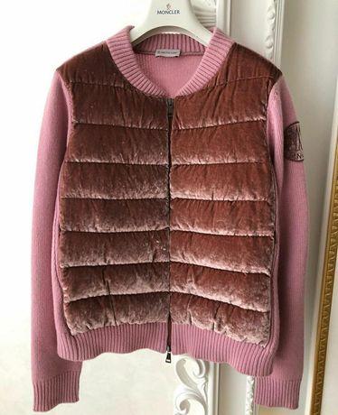 Кашемировый женский розовый  кардиган Moncler. Оригинал. Новый.
