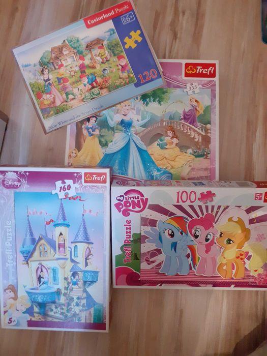 Puzzle 5+ Komplet 4 sztuk: Disney, Kucyki Pony Piła - image 1