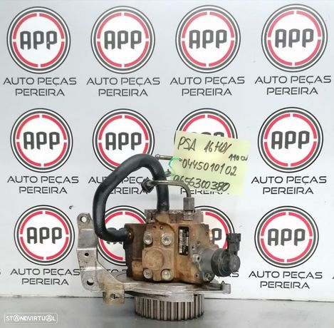 Bomba de combustível Rail PSA 1.6 HDI 110 CV referência 0445010102, 9656300380.