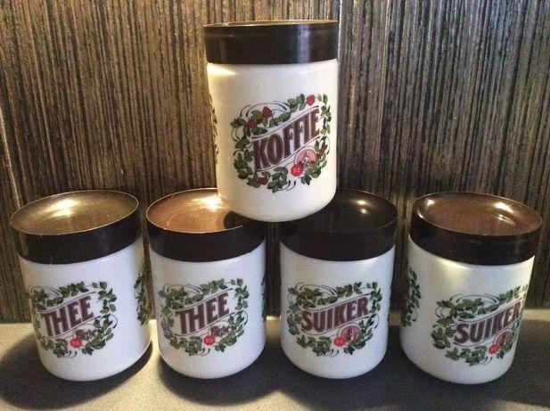 5szt Douwe Egberts DE kolekcja wiekowych słoików słoiki żaroodporne