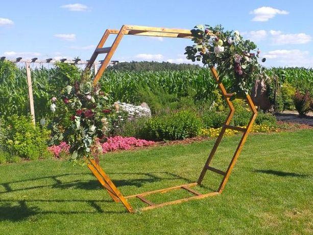 Ścianka weselna heksagon podwójny - wynajem