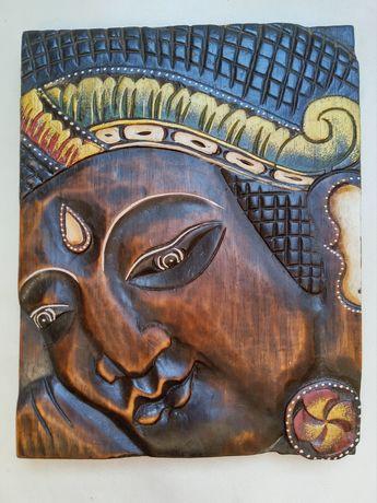 Płaskorzeźba budda, mandala