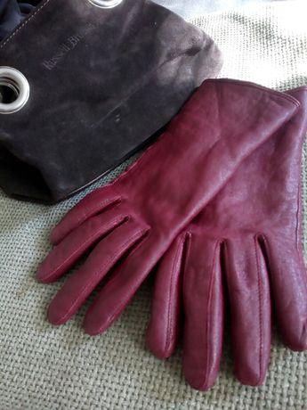 Кожаные женские перчатки.