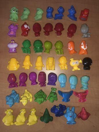Kinder niespodzianka figurki stare serie potwory z gumy i plastikowe