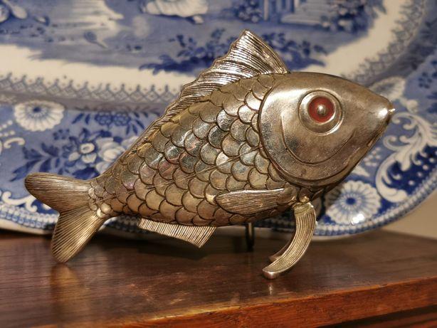 Paliteiro em prata - peixe