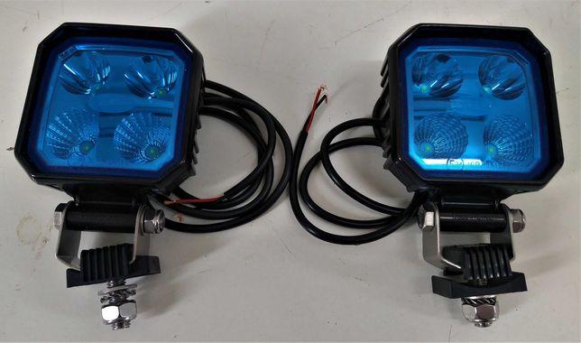 Lampy halogeny robocze belki opryskiwacza niebieskie 1000lm LED 9W
