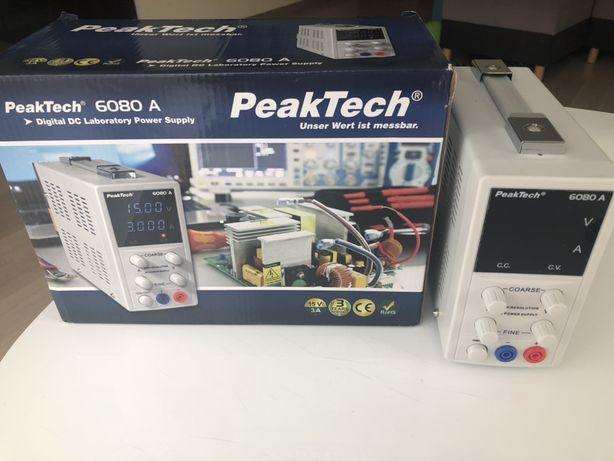 Zasilacz laboratoryjny 15V 3A peaktech 6080A
