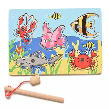Игрушка деревянная рыбалка