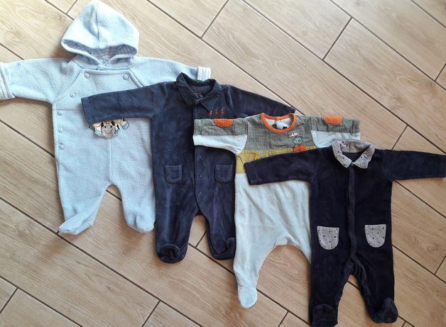 Пакет  вещей на мальчика 0-3 месяца человечек слип комбинезон