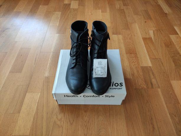 Botki Helios 41 buty zimowe skóra naturalna ocieplane
