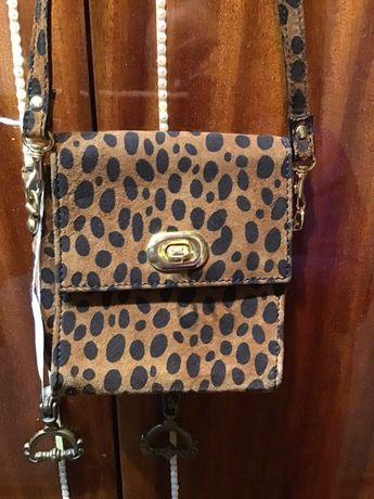 Маленька сумочка леопардова на ремінь пояс через плече qwe