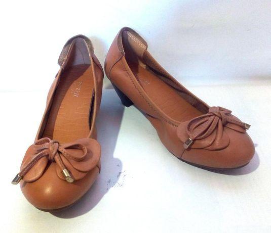 Удобные и красивые кожаные туфли, р.36 код k3539