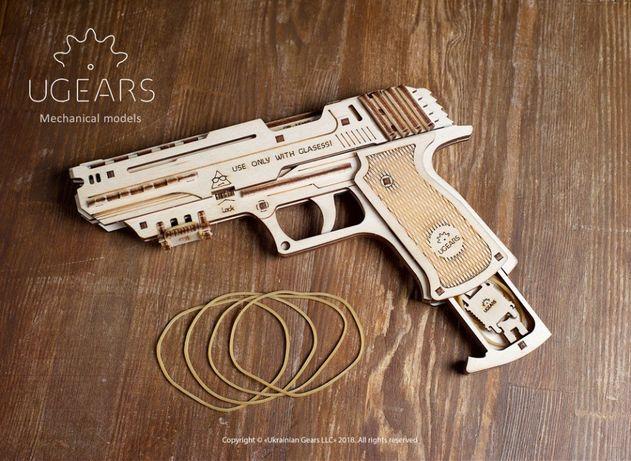 """Детский развивающий конструктор, деревянный 3D пазл - """"Пистолет"""""""