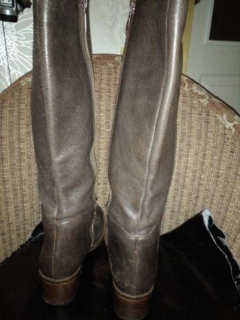 Сапоги женские кожаные деми бу 37 Zara