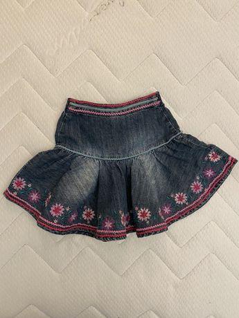 Джинсовая юбка на 2-4года
