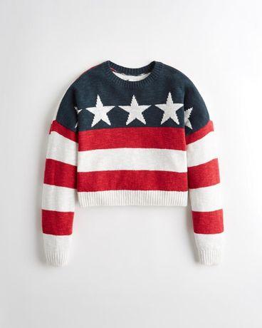 Hollister Americana Sweter S USA