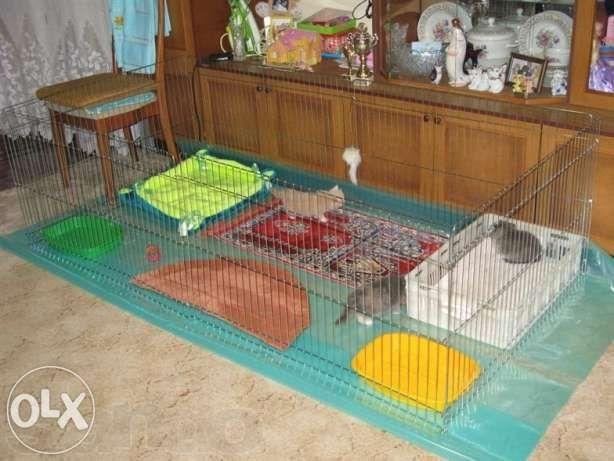 Барьер, ограждение, ясли, манеж клетка для собак щенков 200х100х60h см