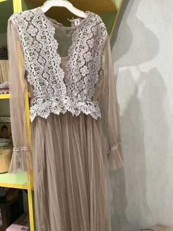 Платье пудра  s-m