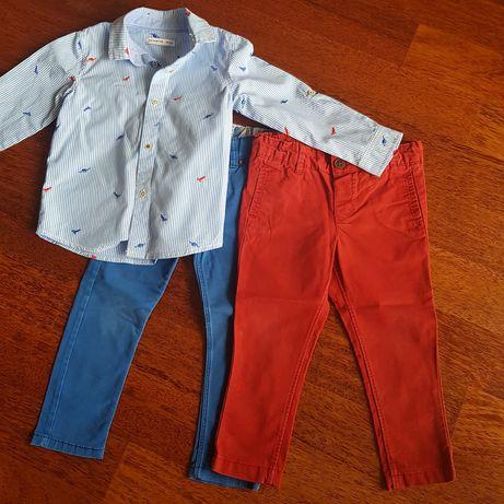 Zestaw spodnie, koszula rozm. 98