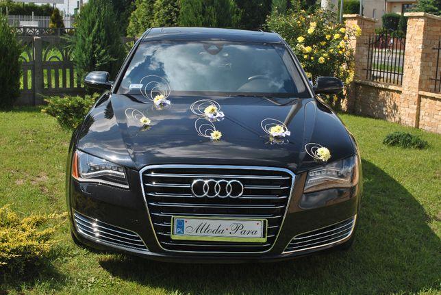 Auto do ślubu Audi A8 Long Czarny Kielce