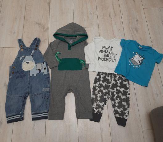 Пакет одежды на 6-9мес, джинсовый комбинезон хлопковый человечек штаны