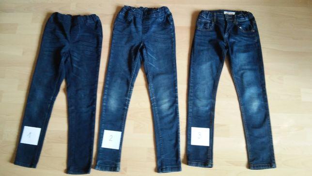 Spodnie 9-11 Lat Jeansy z Laycrą 134,140,146 Palomino Pepperts Granat