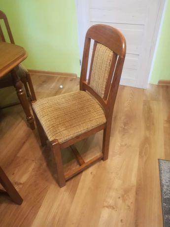 Drewniany rozkładany stół do jadalni 6 drewnianych krzeseł