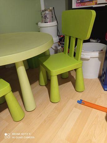 Stół i krzesła Mamut Ikea