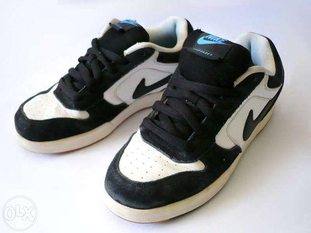 Czarno-biało-niebieskie buty sportowe Nike Skeet JR 37,5 38 adidasy