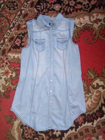 Джинсовая туника, платье, рубашка